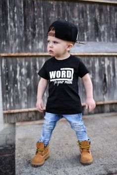 Boy Names Discover Street Style Shirt - Hipster T Shirt - Boys Graphic Tee - Trendy Kids Clothes - Monochrome Kids - Hipster Toddler - Word To Your Mutha Hipster Toddler, Toddler Boy Fashion, Little Boy Fashion, Toddler Boy Outfits, Fashion Kids, Toddler Boys, Kids Boys, Fashion 2020, Fashion Design