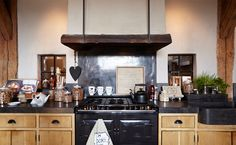 Home - Riverdale Rustic Wood Cabinets, Black Granite Countertops, Cocinas Kitchen, Cabinet Fronts, Cozy Kitchen, Love Your Home, Kitchen Styling, Home And Living, Home Kitchens