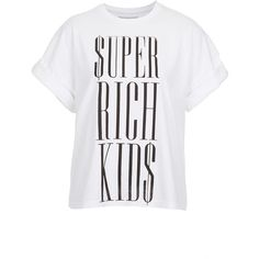 **Super Rich T-Shirt by Illustrated People ($55) ❤ liked on Polyvore