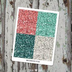 Glitter Header Stickers - Vintage Floral Planner Kit - Erin Condren - Filofax - Midori - Happy Planner - Travelers Notebook by planfantastic
