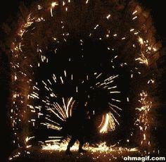 fireworks performance art