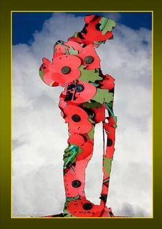 Poppy Soldier Veterans Day ~ Jonathan Alonso www. Remembrance Day Activities, Veterans Day Activities, Remembrance Day Poppy, Soldier Silhouette, Silhouette Art, Veterans Day Poppy, Veterans Day Coloring Page, North American Animals, Poppy Craft