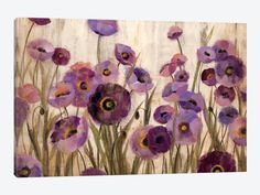 Pink and Purple Flowers by Silvia Vassileva 1-piece Canvas Artwork