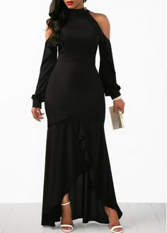Sexy Dresses, Club & Party Dress Sale Online Page 5 Cheap Maxi Dresses, Sexy Dresses, Casual Dresses, Casual Outfits, Long Sleeve Chiffon Dress, Black Long Sleeve Dress, Sleeve Dresses, Dress Black, Black Dresses Online