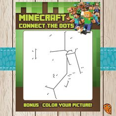 Printable Minecraft Connect the Dots Game  by BrightOwlCreatives, $3.00