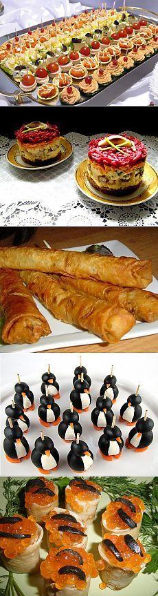 Рецепты закусок - 5 рецептов с фото .