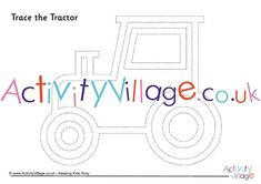 This simple tractor outline is fun for little kids to trace – and it's great pre-writing practice too! Tractor Coloring Pages, Colouring Pages, Tractor Crafts, Pre Writing Practice, Tractors For Kids, Crafts For Kids, Fun, Quote Coloring Pages, Crafts For Children