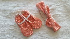 Rosy headband with matching shoes