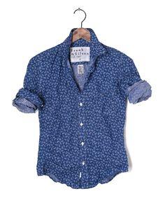 Womens Barry Linen Pineapple Shirt