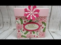 Mini treat gift box Video Tutorial using Sealed With Love and Sending Love by Stampin' Up - YouTube