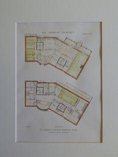 Floor Plans, St. Joseph's Convent, Roxbury, MA, 1918, Original Plan. Greco.