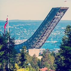 Holmenkollen Ski Jump on a beautiful day. #oslo #visitoslo Photo: @gr8pics