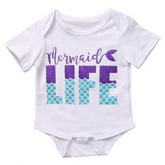 Mermaid Life Baby Girl Bodysuit