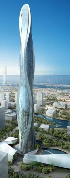 1 Park Avenue Tower, Jumeirah Gardens Dubai, UAE by SOM & Adrian Smith + Gordon Gill :: 125 floors, height :: on hold Unusual Buildings, Interesting Buildings, Amazing Buildings, Modern Buildings, Futuristic Architecture, Beautiful Architecture, Interior Architecture, Building Structure, Building Design
