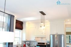Kitchen makeover with new lighting plan