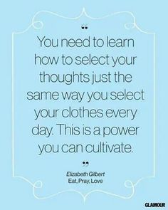 gather your positive attitude and how you will deliver your thoughts and words