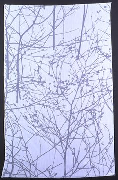 Jack Lenor Larsen; Burnt Out Tergal Polyester 'Wintertree' Fabric, 1968.