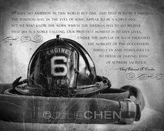 Fireman Gift Fireman Art Fireman Quote Firefighter | Etsy Firefighter Home Decor, World Relief, American Firefighter, Life Verses, Thing 1, Print Packaging, Fine Art Prints, Fire Dept, Fire Department
