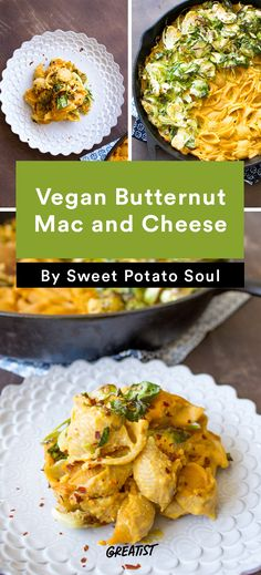 There's absolutely no dairy in the delicious vegan butternut mac and cheese recipe from @Greatist. Hello, new favorite indulgence!