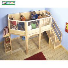 Children's indoor playground-Large Market Play Loft, Free Shipping