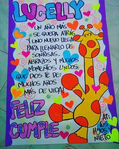 Tarjetas Ideas Para Fiestas, School Notes, Love Gifts, Birthday Party Decorations, Flower Tattoos, Anniversary Gifts, Diy And Crafts, Graffiti, Banner