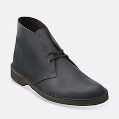 a587e9c33 Mens Desert Boot Black Beeswax Leather - Clarks Originals Mens Desert Boots  - Clarks® Shoes