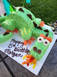 Dragon Birthday Cake Tutorial