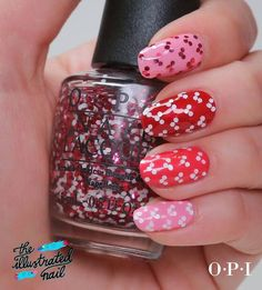 Minnie Mouse OPI design by The Illustrated Nail Funky Nails, Trendy Nails, Cute Nails, Diy Nails, Minnie Mouse Nails, Mickey Mouse Nails, Opi, Nail Art Techniques, Pedicure Nail Art
