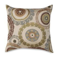 Suzanni Blue and Green 20-Inch Square Toss Pillow - BedBathandBeyond.ca