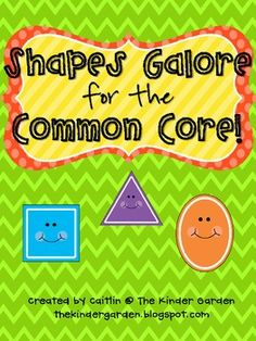 Shapes Galore for the Common Core! Reviews 2D and 3D shapes. Includes lots of worksheets/activities and shape posters! It's mainly geared toward Kindergarten/first grade, but can work for second grade too.