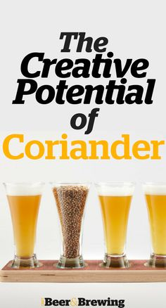 The Creative Potential of Coriander Homebrew Recipes, Beer Recipes, Alcohol Recipes, Craft Beer Brands, Beer Ingredients, Brew Your Own Beer, Beer Brewing Kits, Brewing Company, Beer Hops