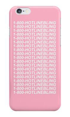 1-800- HOTLINE BLING PINK by holliesapparel