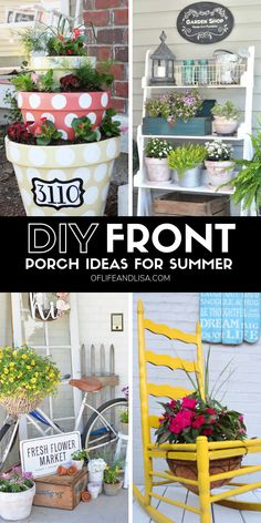 7 Cheap and Easy DIY Porch Decor Ideas for Summer 7 Cheap and Easy DIY Porch Decor Ideas for Summer Here's several ways to decorate your front porch this summer using items found around the home or at your local thrift store. Diy Organizer, Thrift Store Crafts, Diy Crafts To Sell, Thrift Stores, Crafts Cheap, Spring Home Decor, Diy Home Decor, Home Beach, Summer Porch