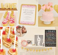Sweet {Baby Love} Pink & Gold First Birthday Party by Eat Drink Pretty! http://hwtm.me/XJoDmr