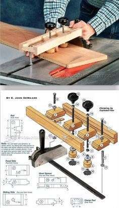Miter Gauge Clamping Jig - Table Saw Tips, Jigs and Fixtures | WoodArchivist.com