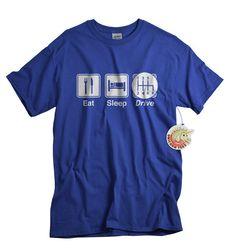 Car Shirt for Dad Eat Sleep Drive Trucker Shirt funny t shirt for Men car lovers truckers trucking gift on Etsy, $14.99