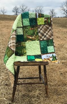 Rustic Quilt / Homemade Quilts For Sale / Adult Throw Quilt / Retirement Gift for Him / Woodland Animal Blanket / Adventure Awaits by createdbymammy on Etsy