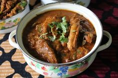 I mostly make chicken curries with coconut in it, somedays i need a curry which has no coconut and calls for simple onions and tomato masala. I always thought that adding ground up paste in the curries make it more thick and curry like, rather than making everything watery. But this recipe is a exception,...Read More