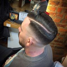 "307 Likes, 5 Comments - Simon Harvey (@mrsimonharvey) on Instagram: ""High bald fade hard part. Finished with @layriteofficial Supershine #barbers #oldschoolbarbers…"""