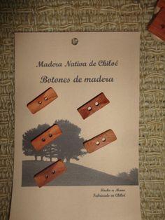 Boton Alargados con Rebaje en Madera Nativa de por ElEmporiodeSofia