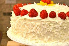 Raspberry Lemon Cake Recipe with Coconut www.prettybitchescan.com