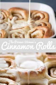 Pioneer Woman s Cinnamon Rolls These buttery soft and pillowy cinnamon rolls covered in maple icing will absolutely melt in your mouth They are a labor of love that is 100 worth it Tried and Tasty Breakfast And Brunch, Breakfast Recipes, Snack Recipes, Cooking Recipes, Dessert Recipes, The Pioneer Woman, Pioneer Woman Recipes, Pioneer Woman Cookies, Pioneer Woman Desserts