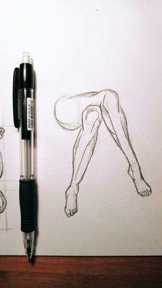Piernas cruzadas #Dibujo #piernas #cruzadas #esquema #humano #proporciones #lapiz #arte