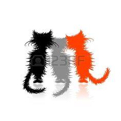 Tres gatitos lindos para su diseño