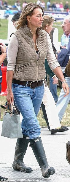 Catherine Duchess of Cambridge out of hours uniform often consists of wellies, skinny jeans and sloane ranger jackets and tops