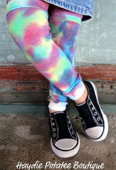 Rainbow Custom Tie Dye Leg Warmers