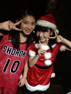 Rinon and Yui and costumed up.