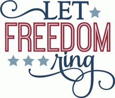 Silhouette Design Store - View Design #61940: let freedom ring - phrase