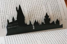 Handcut Silhouette Bookmark Hogwarts Castle by GracefulDiligence, $8.00