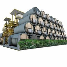 The OPod Tube House was designed with a view to mitigating Hong Kong's housing shortages, which. Container Hotel, Container House Plans, Container House Design, Tiny House Design, Modern House Design, Futuristic Architecture, Amazing Architecture, Sleeping Pods, Low Cost Housing